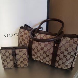 Gucci Handhag And Wallet Set